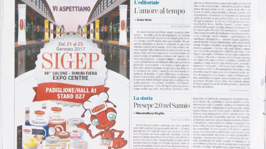 D'Avino Zucchero su Il Corriere della Sera per Sigep 2017